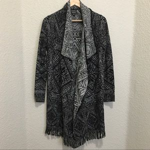 Lucky Brand Womens Knit Fringe Cardigan Sweater
